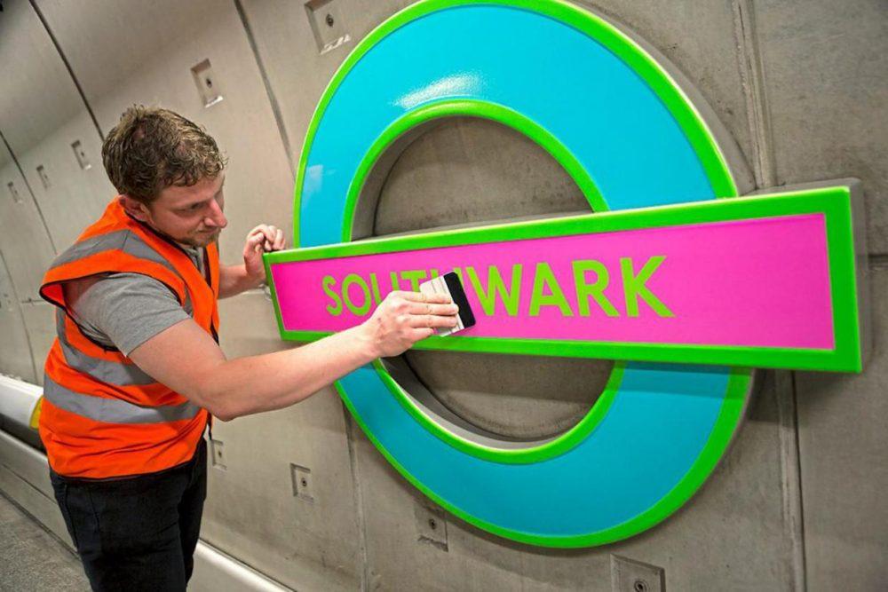 Michael Craig-Martin Roundel at Southwark Station