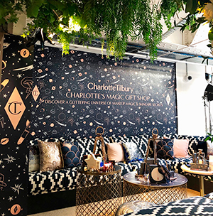 Full event graphics large scale printing Charlotte Tilbury