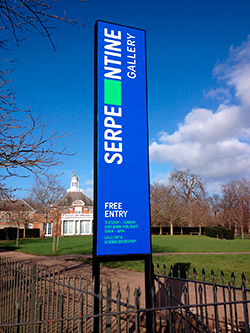 Banner signage printing serpentine gallery