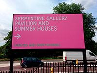 Direct to media Serpentine Gallery