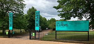 Serpentine external signage printing